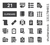 clipboard icon set. collection... | Shutterstock .eps vector #1311784811
