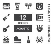 acoustic icon set. collection... | Shutterstock .eps vector #1311784961