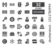 exchange icon set. collection... | Shutterstock .eps vector #1311784994