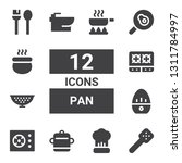 pan icon set. collection of 12... | Shutterstock .eps vector #1311784997