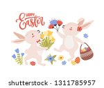 easter greeting card template... | Shutterstock .eps vector #1311785957