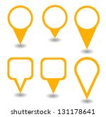 set of green isolated pointers... | Shutterstock .eps vector #131178641