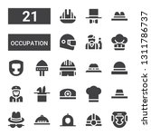 occupation icon set. collection ... | Shutterstock .eps vector #1311786737
