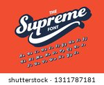 vector of stylized modern font... | Shutterstock .eps vector #1311787181