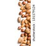 The Border Of Various Nuts On...