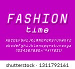 purple italic alphabet  three... | Shutterstock .eps vector #1311792161