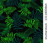tropical background with palm...   Shutterstock .eps vector #1311800864