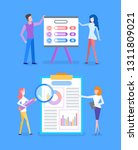 presentation with explanation... | Shutterstock .eps vector #1311809021