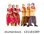 dance team dressed in indian... | Shutterstock . vector #131181089
