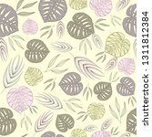 seamless pattern with gray... | Shutterstock .eps vector #1311812384