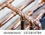copper pipes and fittings for... | Shutterstock . vector #1311814784