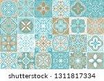 portuguese azulejo ceramic tile ...   Shutterstock .eps vector #1311817334