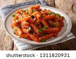 honey chilli potatoes is an... | Shutterstock . vector #1311820931