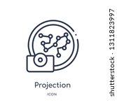 projection icon from zodiac... | Shutterstock .eps vector #1311823997