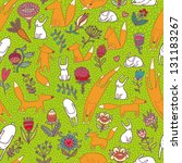 animals seamless pattern | Shutterstock .eps vector #131183267
