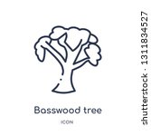Basswood Tree Icon From Nature...