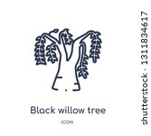 black willow tree icon from... | Shutterstock .eps vector #1311834617