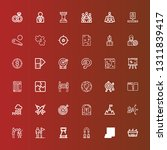 editable 36 strategy icons for... | Shutterstock .eps vector #1311839417