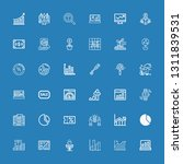 editable 36 increase icons for... | Shutterstock .eps vector #1311839531