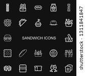 editable 22 sandwich icons for...   Shutterstock .eps vector #1311841847