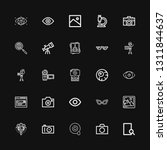 editable 25 lens icons for web... | Shutterstock .eps vector #1311844637
