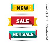 paper labels set. business... | Shutterstock .eps vector #1311844994