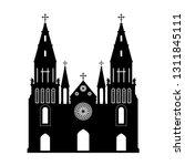 black silhouette of gothic... | Shutterstock .eps vector #1311845111