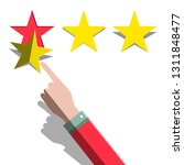 star rating concept. hand and... | Shutterstock .eps vector #1311848477