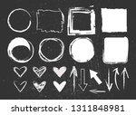 chalk graphic elements... | Shutterstock .eps vector #1311848981