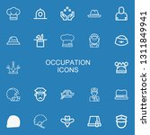 editable 22 occupation icons... | Shutterstock .eps vector #1311849941