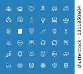 editable 36 insignia icons for... | Shutterstock .eps vector #1311850604