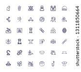 editable 36 figure icons for... | Shutterstock .eps vector #1311850664