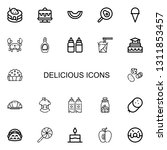editable 22 delicious icons for ... | Shutterstock .eps vector #1311853457