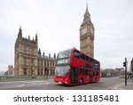 Big Ben With Red Double Decker...