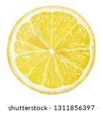 sliced lemon texture on white...   Shutterstock . vector #1311856397