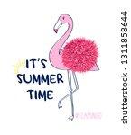 hand drawing flamingo... | Shutterstock .eps vector #1311858644