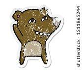 distressed sticker of a cartoon ... | Shutterstock .eps vector #1311865244