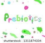 prebiotics lettering.... | Shutterstock .eps vector #1311874334