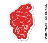 quirky cartoon  sticker of a... | Shutterstock .eps vector #1311875837