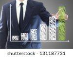 businessman presenting a... | Shutterstock . vector #131187731