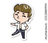 distressed sticker cartoon... | Shutterstock .eps vector #1311880994