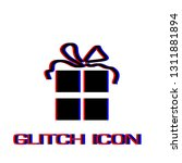 gift icon flat. simple...