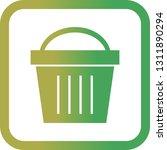 vector picnic basket icon    Shutterstock .eps vector #1311890294
