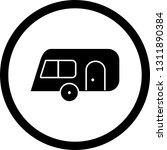 vector caravan icon    Shutterstock .eps vector #1311890384