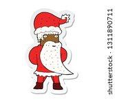 sticker of a cartoon santa claus | Shutterstock .eps vector #1311890711