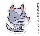 distressed sticker of a cartoon ... | Shutterstock .eps vector #1311890771