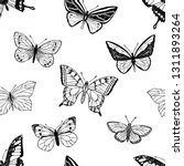 seamless pattern of hand drawn...   Shutterstock .eps vector #1311893264