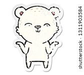 distressed sticker of a happy... | Shutterstock .eps vector #1311903584