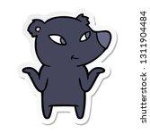 sticker of a cute cartoon bear... | Shutterstock .eps vector #1311904484