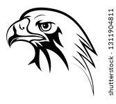 black eagle head vector drawing ... | Shutterstock .eps vector #1311904811